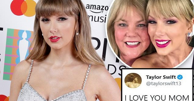 Taylor Swift posts a loving message to her mother after winning Best Family Feature at the 2021 CMT Music Awards