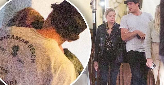 Ashley Benson is seen passionately kissing her new man Colby Ammerman