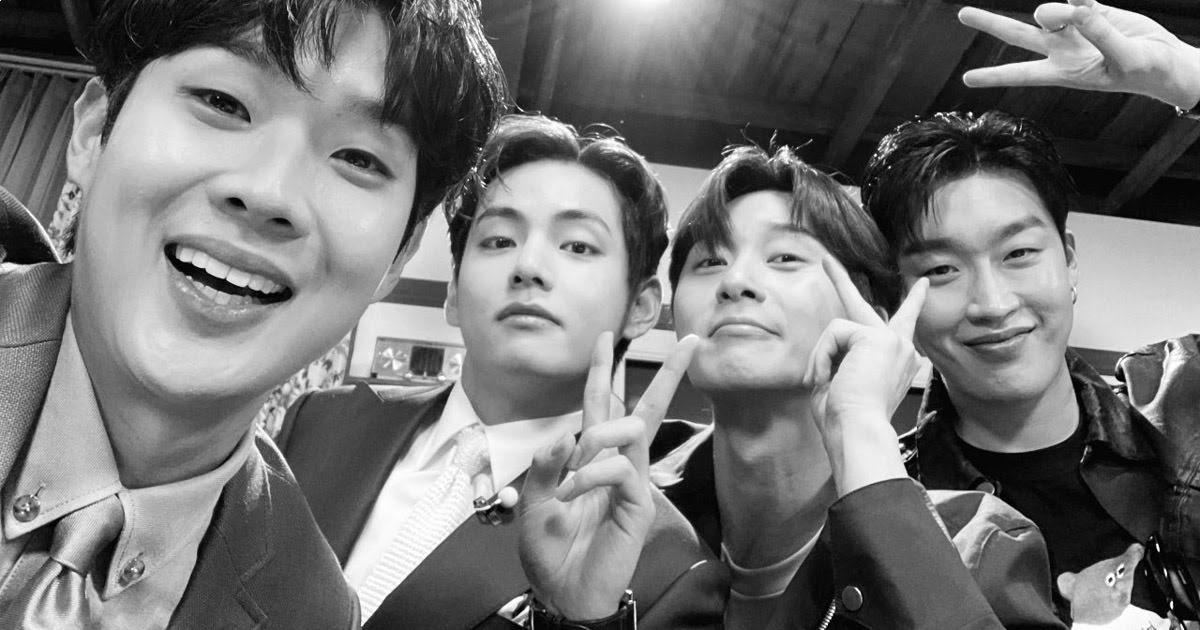 "BTS's V Reunites With ""Wooga Squad"" At Choi Woo Shik's Fan Meeting"