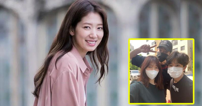 Park Shin Hye Shares Sweet Reunion with 'Doctors' Co-Stars Yoon Kyun Sang and Kim Min Seok