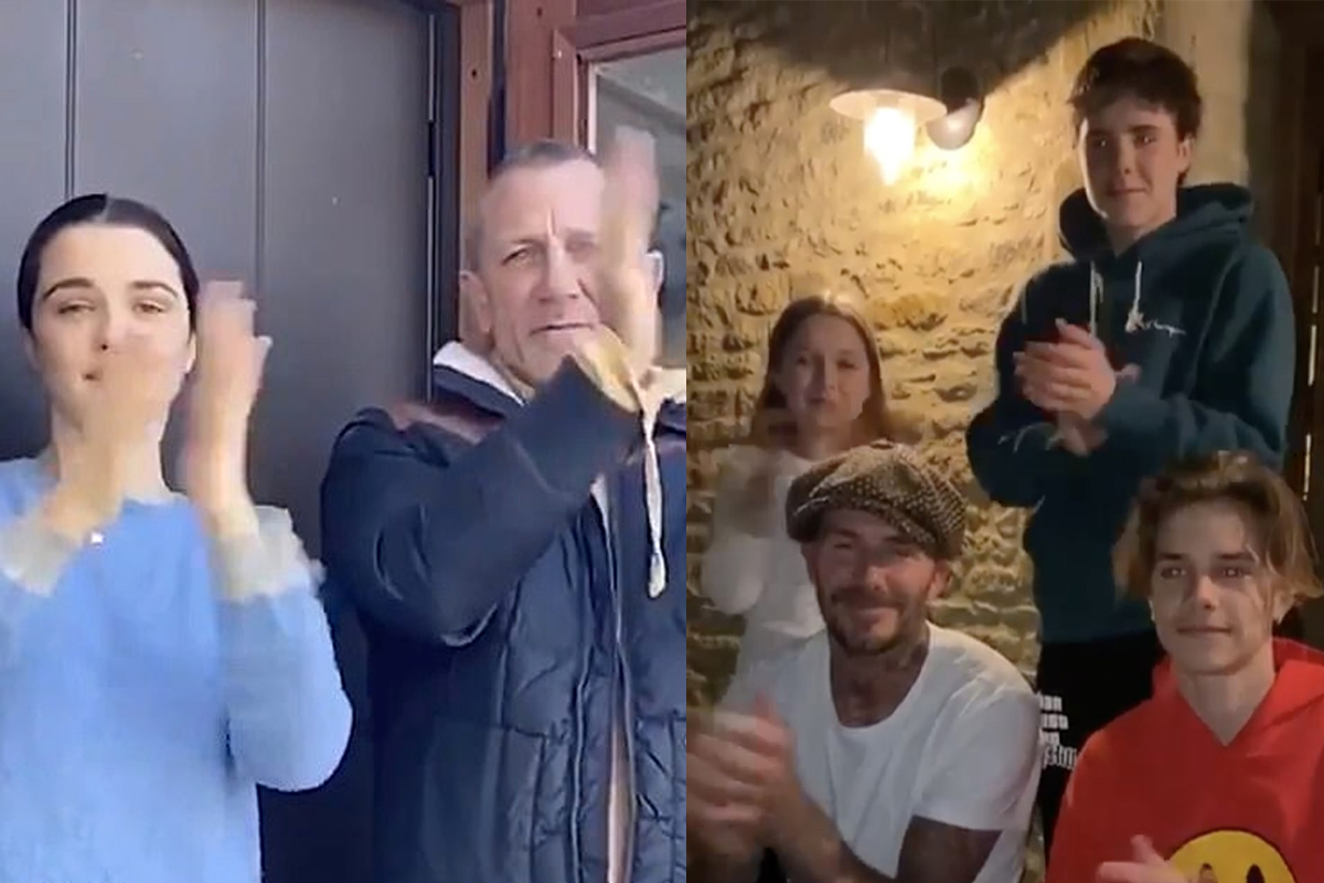 Daniel Craig joins David Beckham and celebrities in video cheering on health workers