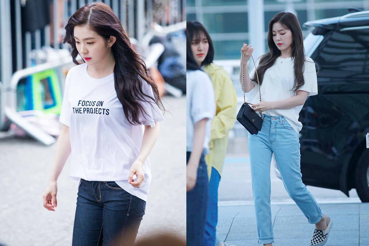 No fancy dress, Irene is still extremely gorgeous with a simple T-shirt