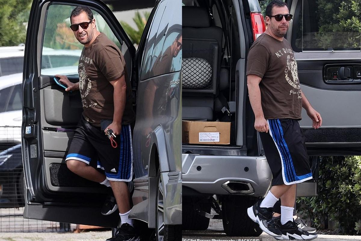 Adam Sandler takes the family van to pick up supplies in Malibu amid coronavirus pandemic
