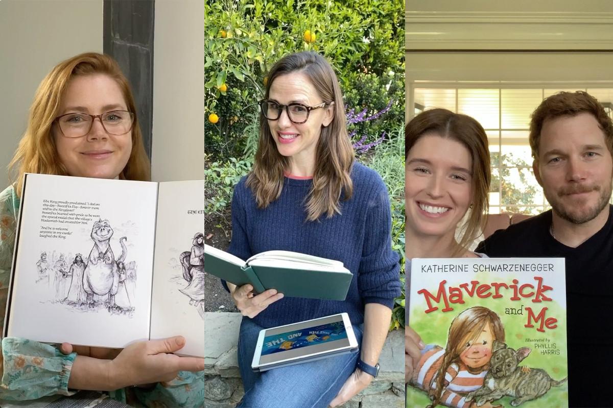 Celebrities join Amy Adams & Jennifer Garner to read stories for quarantined kids