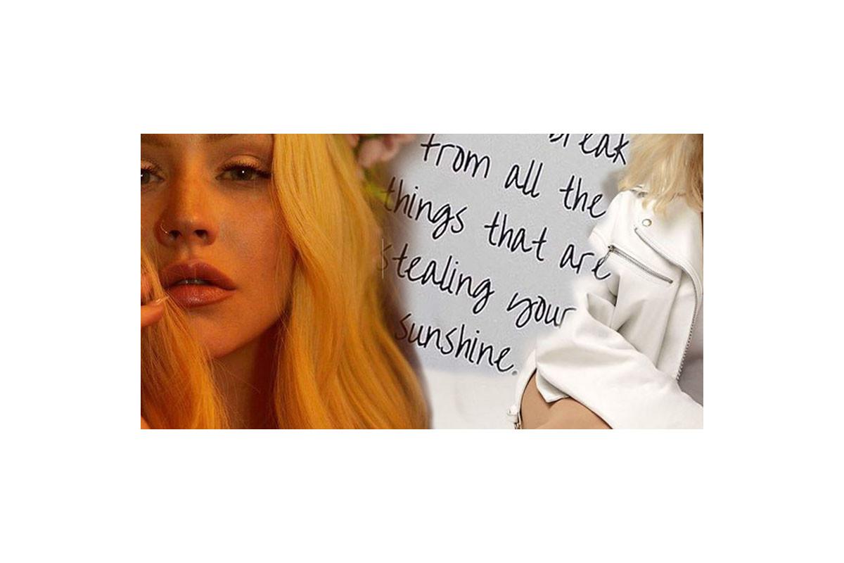 Christina Aguilera shares photos from her quarantine diary on Instagram