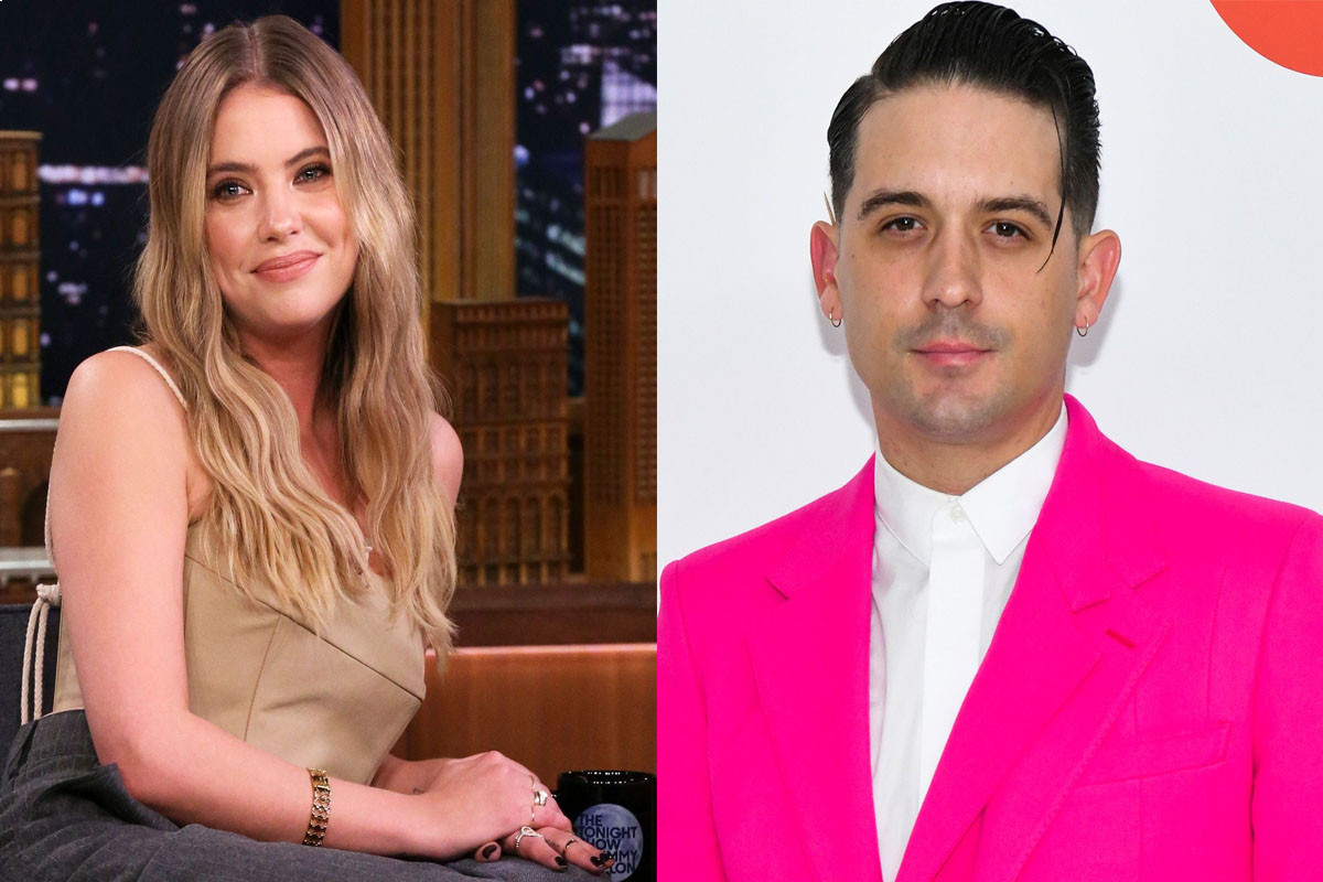 Ashley Benson emerges in sweats and socks to collect take-out for herself and new beau G-Eazy