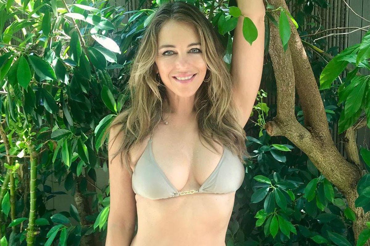 "Elizabeth Hurley, 54, celebrates ""surviving"" lockdown with sexy bikini photo"