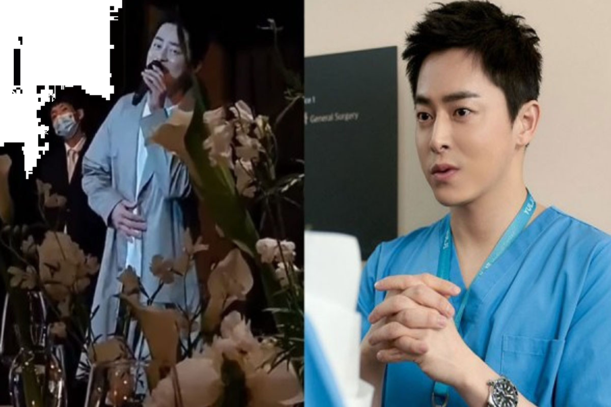 Jo Jung Suk lives hit OST 'Aloha' at wedding party of his friend