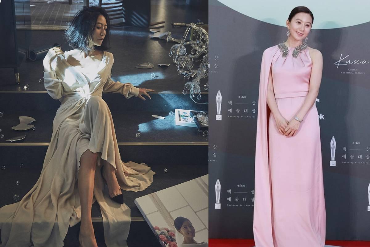'Baeksang Arts Awards 2020' Best Actress Kim Hee-ae shows her charm through elegant pink dress