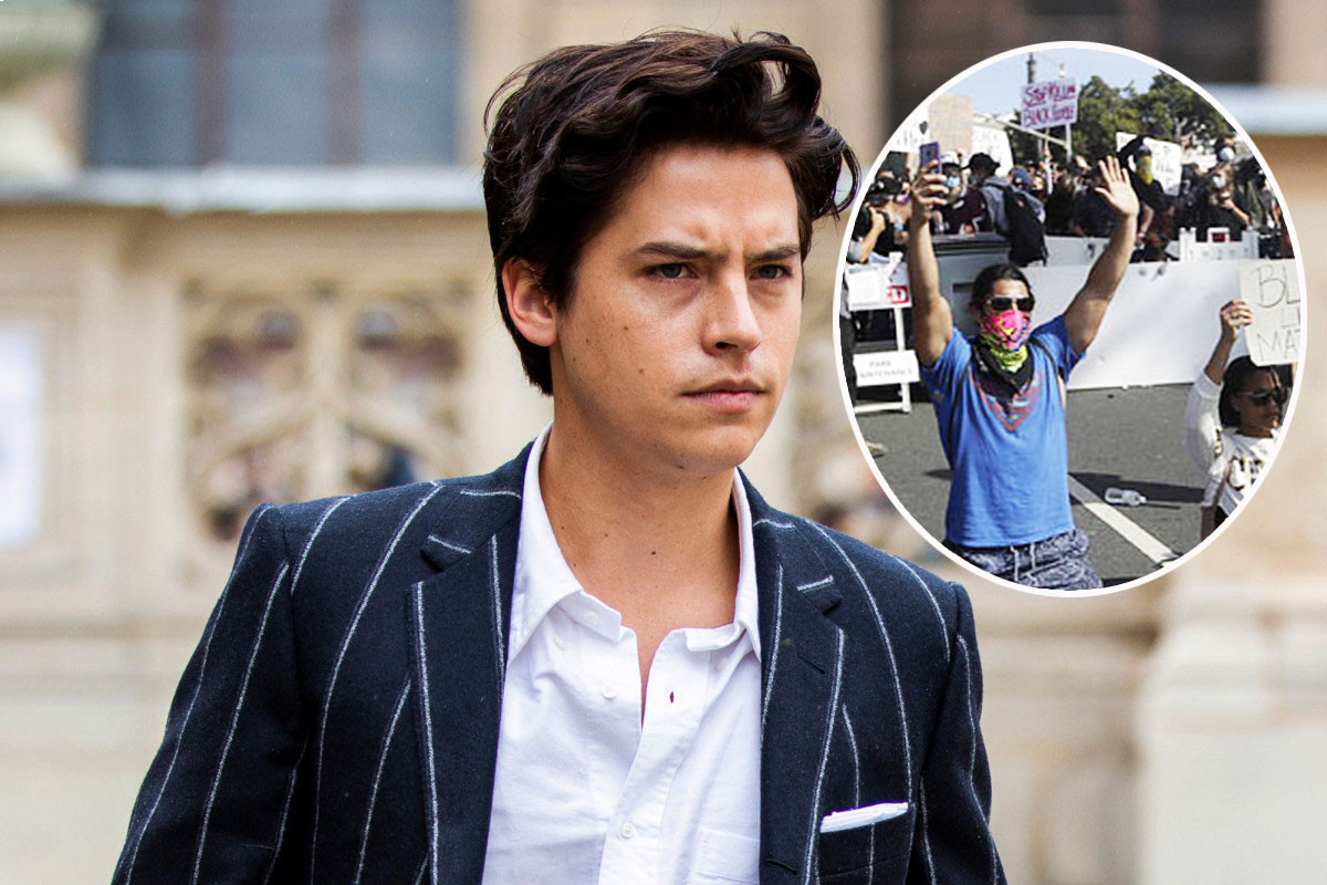 Cole Sprouse was arrested during his Black lives matter protest in Santa Monica