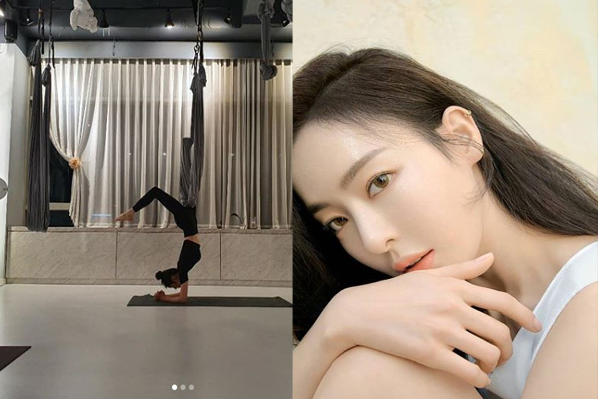 Lee Da Hee Makes Fans Suprise By Mastering Difficult Yoga Poses