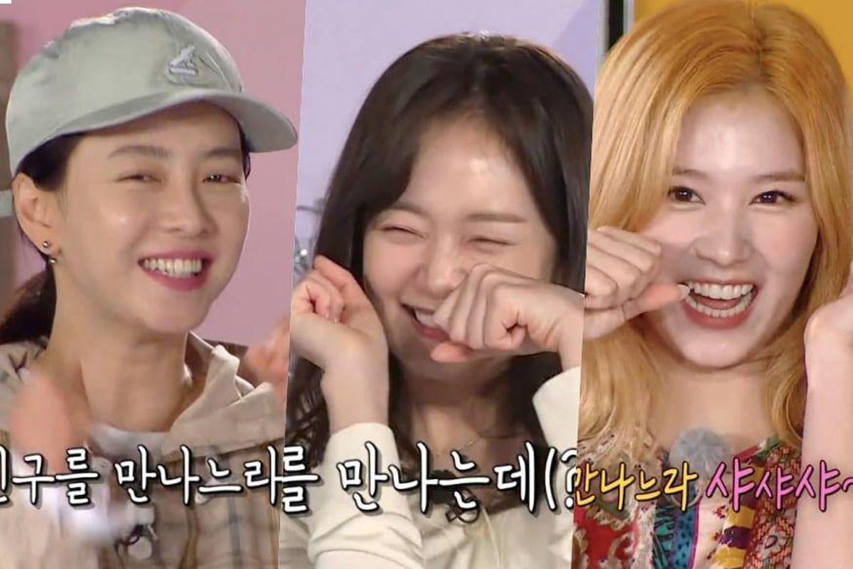 """Song Ji Hyo, Jun So Min Make TWICE's Sana's """"Sha Sha Sha"""" Aegyo On """"Running Man"""""""