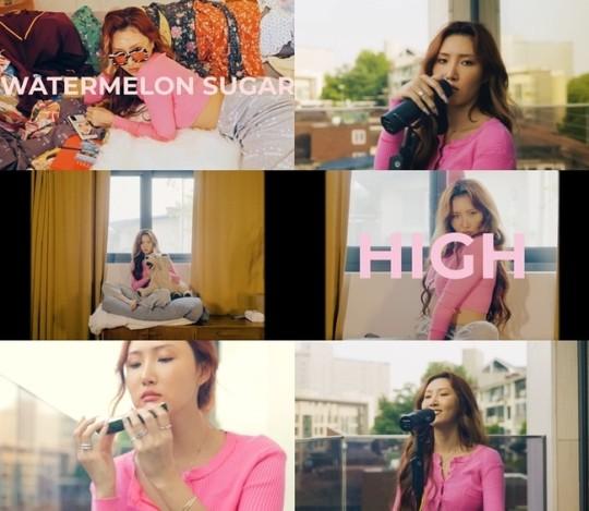 hwasa-cover-song-watermelon-sugar-birthday-reaches-400000-view-1
