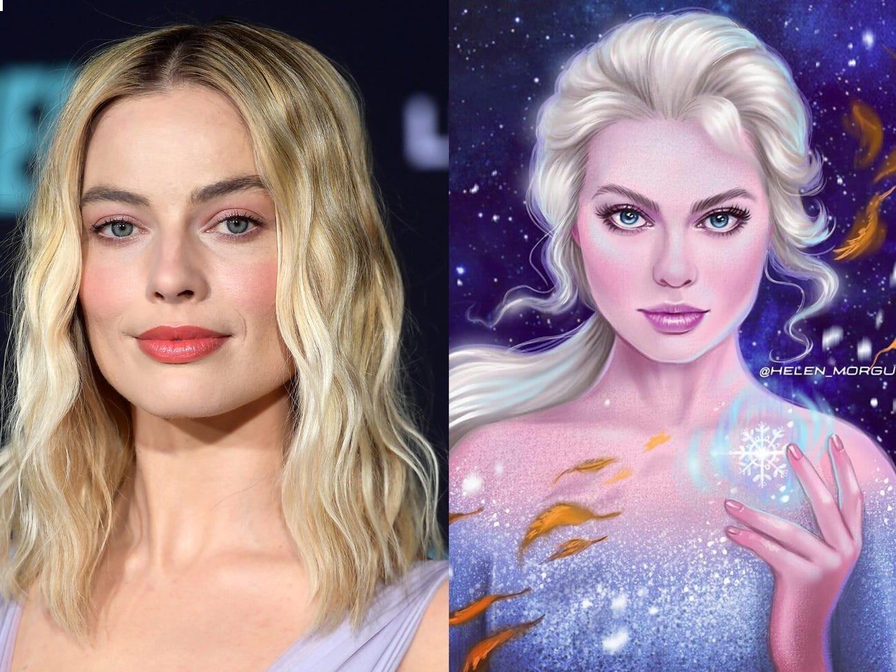 Celebrities transform into Disney characters in fan arts