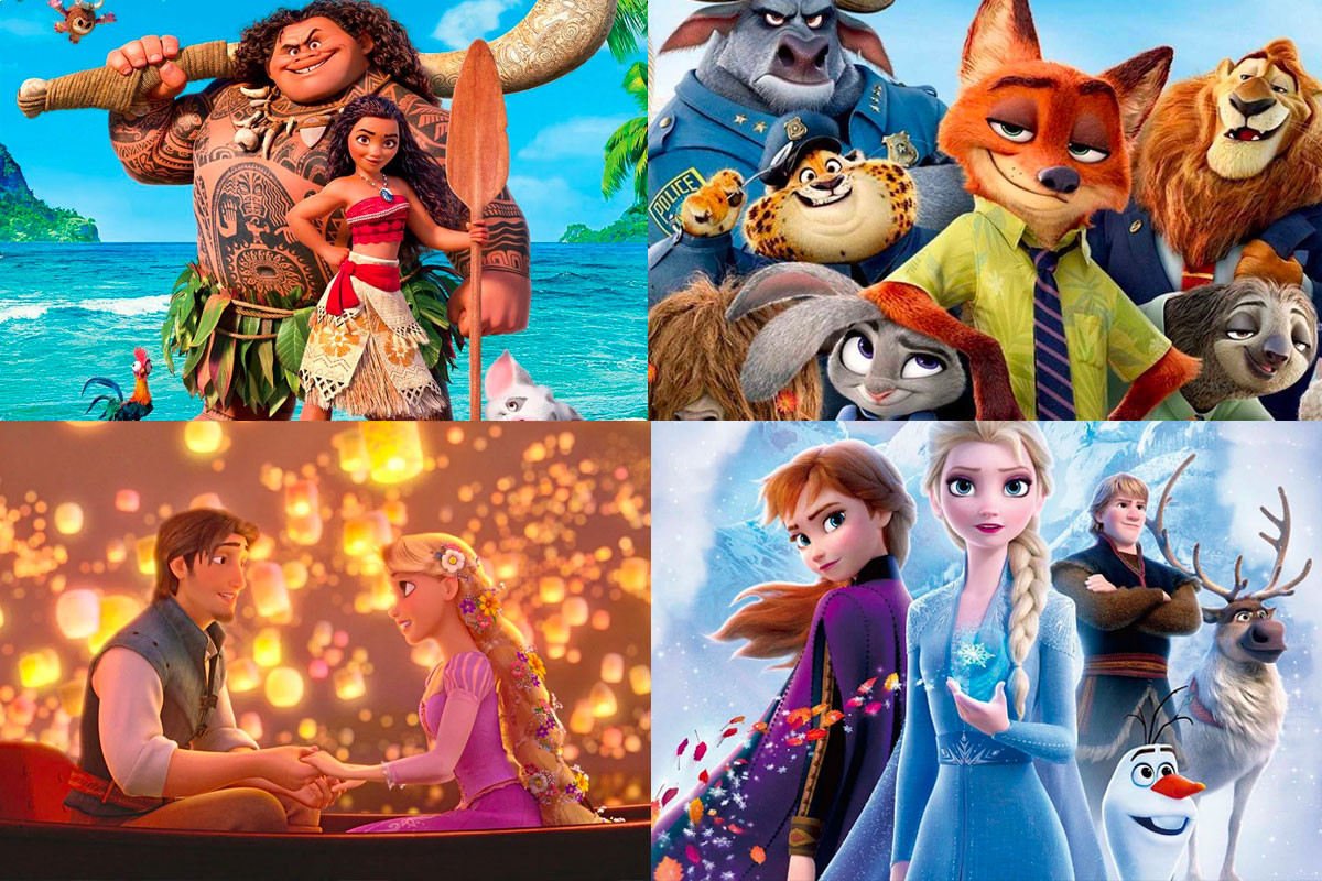 Footage that shows meticulous detail of Disney movies