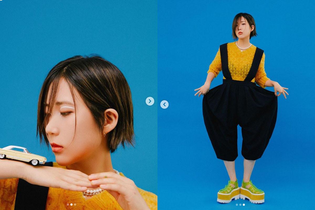 Former Bolbbalgan4 member Woo Ji Yoon (Odd Child) releases teasers for her new album ':colon'