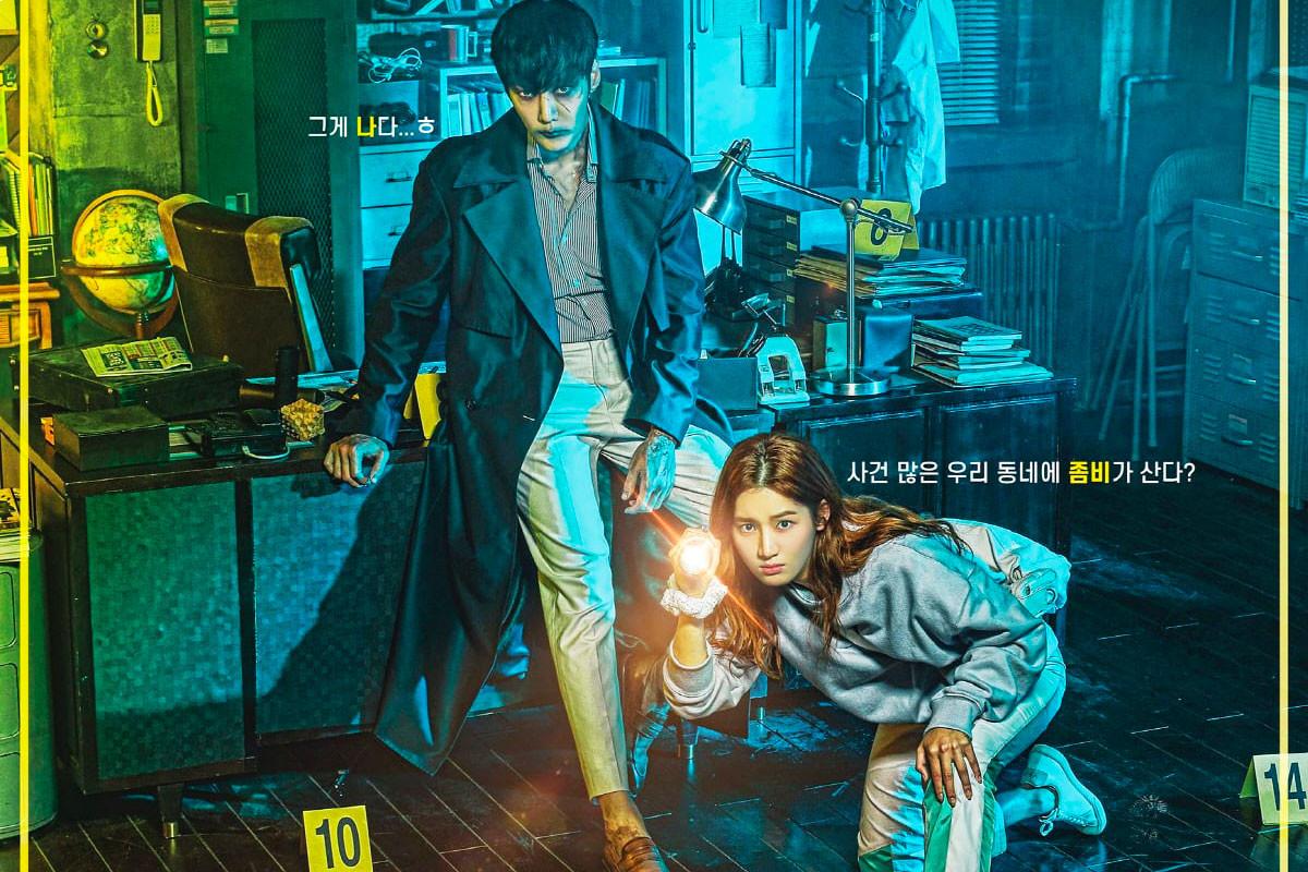 Zombie Choi Jin Hyuk and Human Park Ju Hyun In Zombie Detective