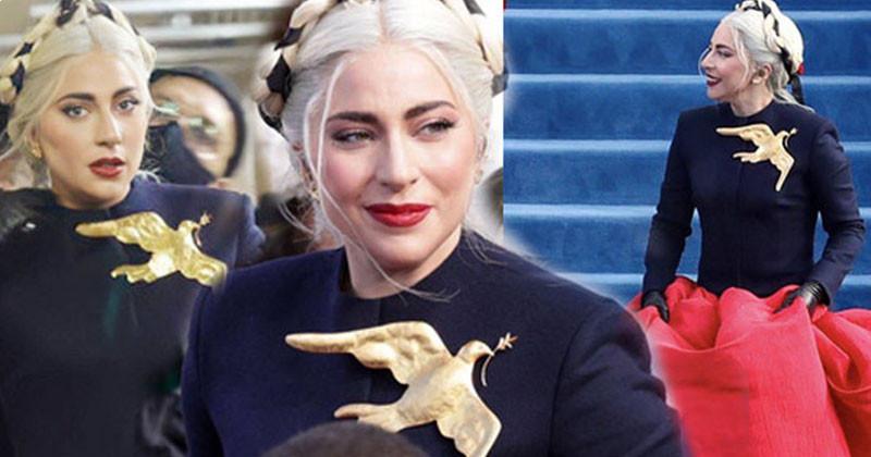 Gorgeous Lady Gaga In Presidental Inauguration Of Joe Biden