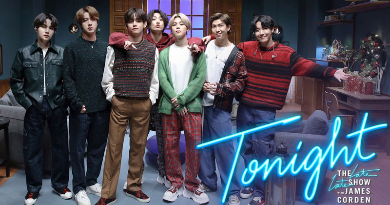 """BTS Send Greeting To Papa Mochi James Corden and Perform """"Life Goes On"""" On The Late Late Show"""