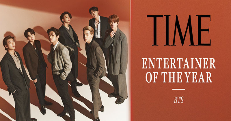 "BTS Becomes ""2020 Entertainer Of The Year"" Chosen by TIME"