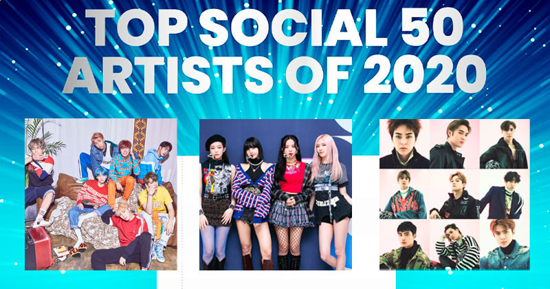 BTS, EXO, BLACKPINK and More Appear on 2020 Billboard's Top Social 50 Artists