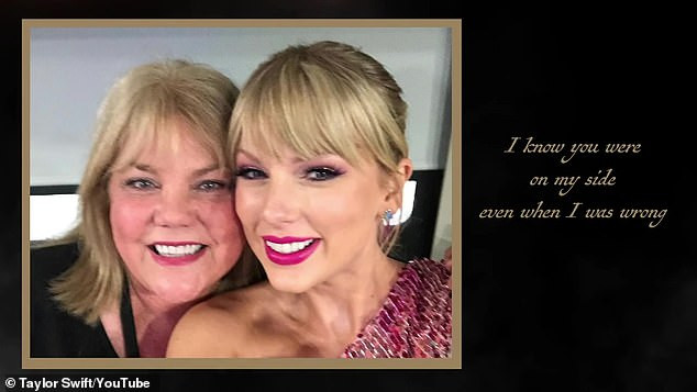 Family life: Back in April, the singer¿songwriter shared a lyric video for the song that featured several never-before-released photos and videos featuring her and her mother Andrea