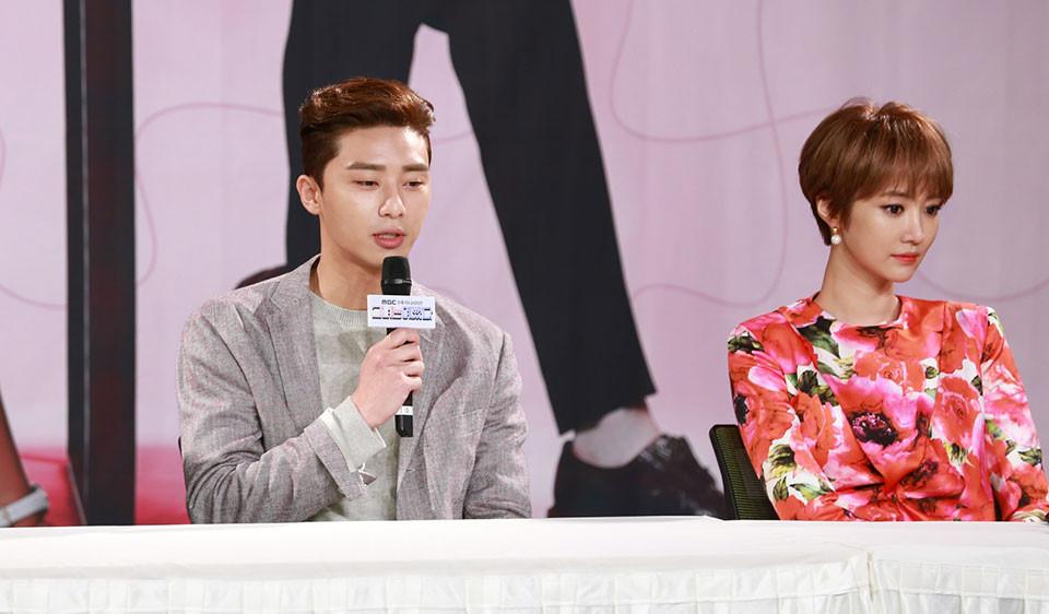 South Korean actor Park Seo-joon and actress Go Joon-hee